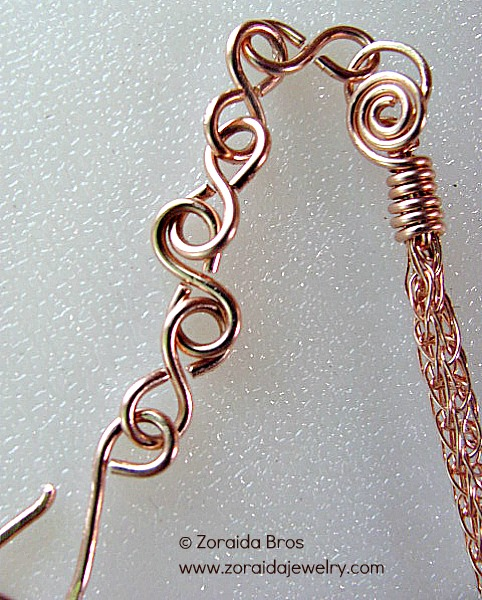 The hook side of the chain